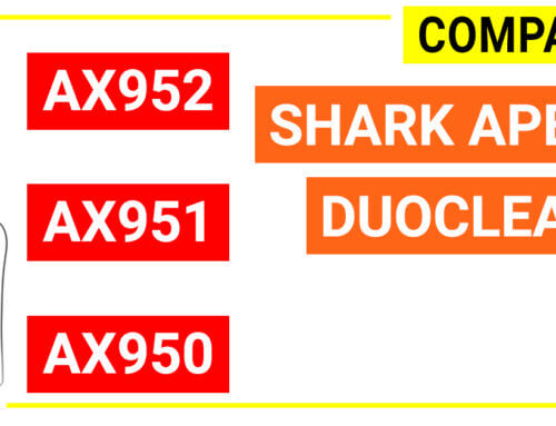 Compare Shark APEX Duoclean AX950, AX951 and AX952