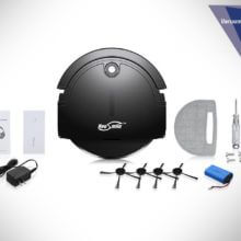 Housmile Robotic Vacuum Cleaner with Drop-Sensing Technology and Powerful Suction