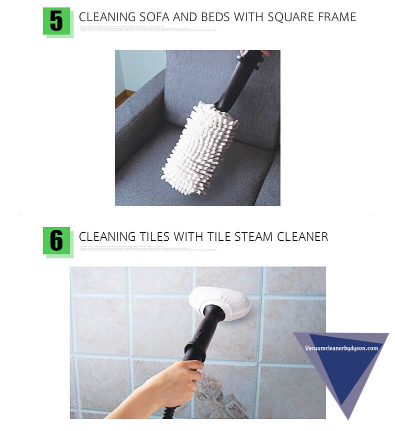 SKG Hot Steam Mops & Carpet and Floor Cleaning Machines cleaning sofa